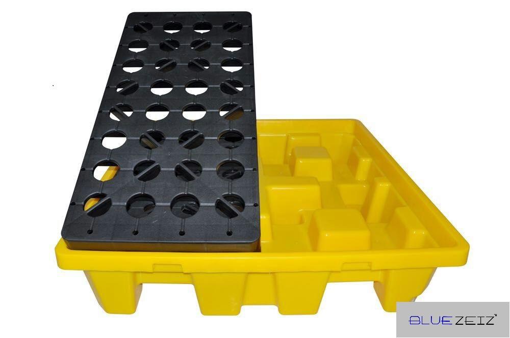 Pallet chống tràn dầu, hóa chất (4 drum spill pallet) BlueSP-4D