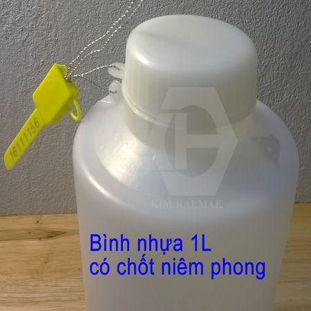 Bình nhựa đựng mẫu 1L có lỗ niêm phong
