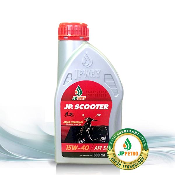 Dầu nhớt dùng cho động cơ xe tay ga 4 thì JP.Scooter 15W-40/SJ