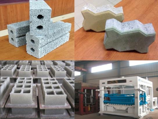 Dây chuyền sản xuất gạch không nung xi măng cốt liệu bằng hệ thống ép thủy lực