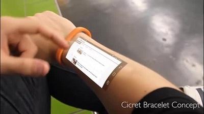 Ứng dụng công nghệ finger-tracking có khả năng biến cánh tay người đeo thành màn hình cảm ứng
